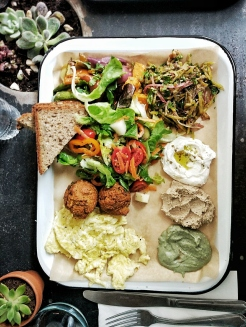 israeli breakfast tray
