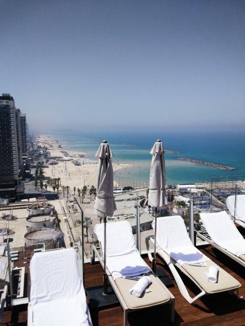 rooftop pool hotel tel aviv